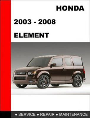 2004 honda element owners manual download free