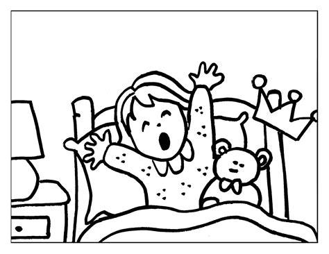 imagenes good morning princess dibujo colorear 2 princess waking up dibujo de princesas