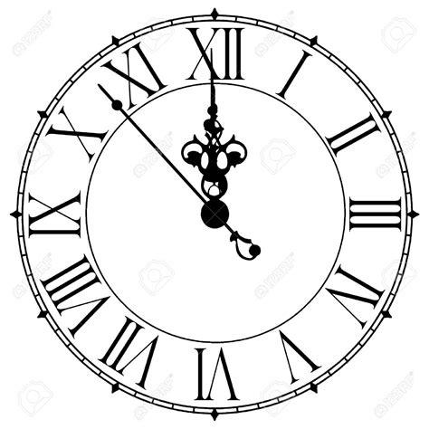 printable midnight clock clock clipart midnight clipground
