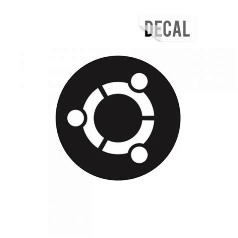 black ubuntu ubuntu black decal sticker unixstickers