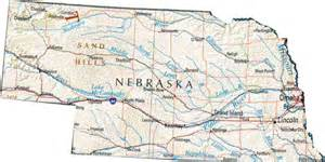 map of nebraska ne state map