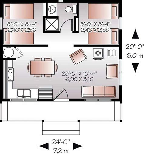 Cabin Floor Plans With Garage by Cabin Floor Plans 20x24 Studio Design Gallery Best