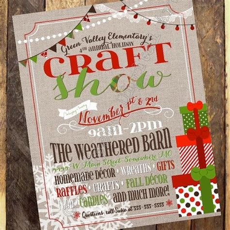 Free Craft Show Flyer Template