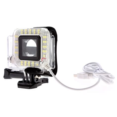 Gopro 3 Murah usb led light lens ring for gopro 4 3 frame white jakartanotebook