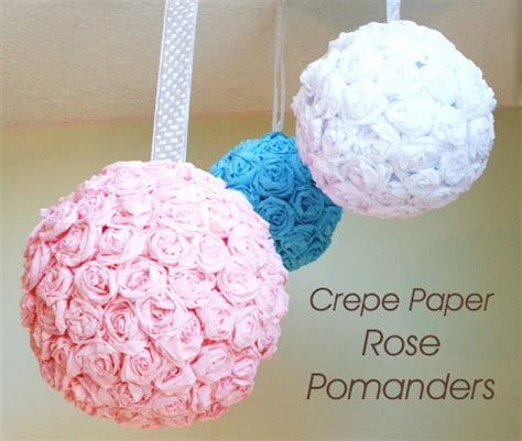 do it yourself wedding project crepe paper pomanders