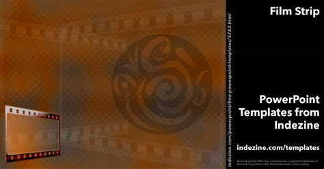 Film Strip 03 Powerpoint Templates Fil A Powerpoint Template