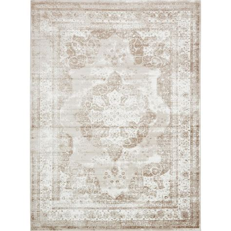12 X12 Area Rug Unique Loom Monaco Beige 9 Ft X 12 Ft Area Rug 3134071 The Home Depot