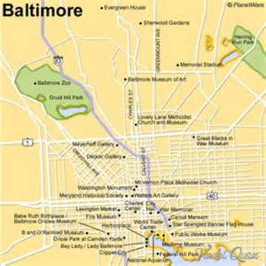 maryland attractions map baltimore map tourist attractions travel map