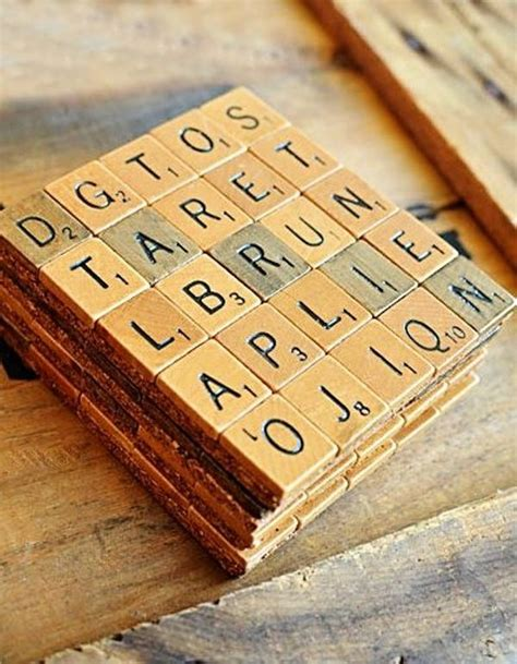 scrabble tile coasters coasters made from scrabble tiles crafty