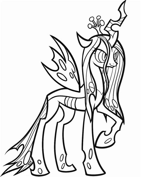 Queen Chrysalis My Little Pony Coloring Pages Sketch Page sketch template