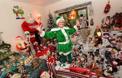crazy holiday christmas crazy grandma turned home into winter wonderland