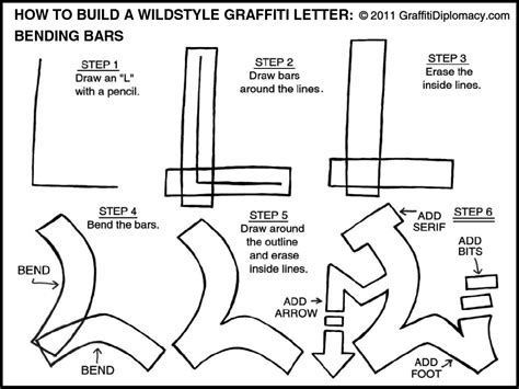 learn how to draw a wildstyle graffiti letter bending bars