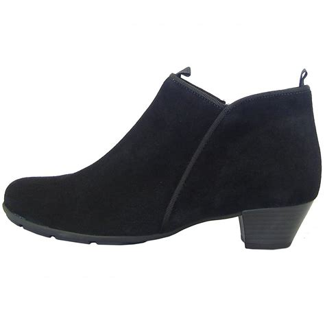 gabor boots trudy low heel ankle boot in black