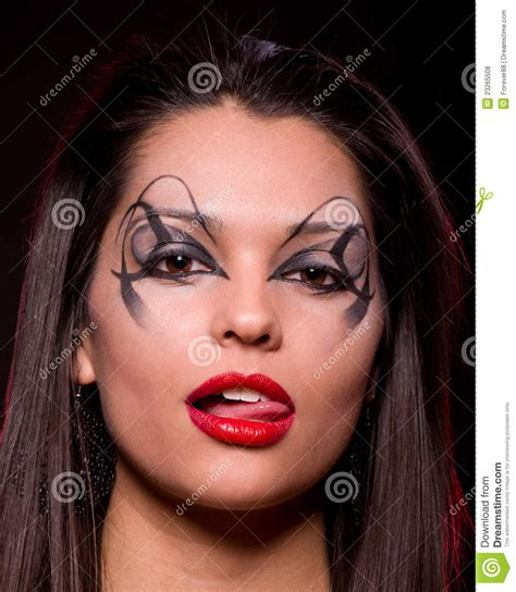 beautiful lady beautiful lady with art makeup stock photo image 23265508