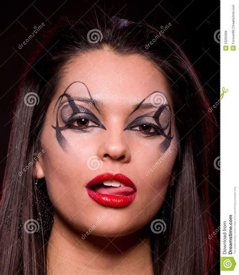 beautiful lady beautiful lady with art makeup stock photo image 23265508