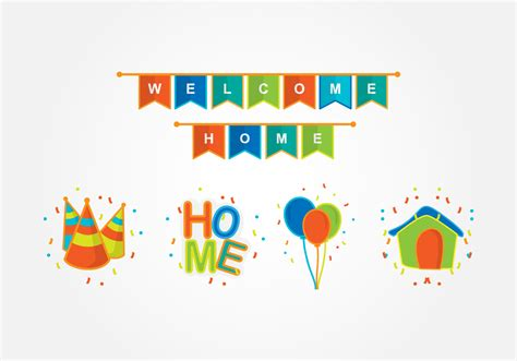 welcome home decoration free vector