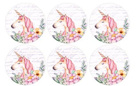free printable unicorn cupcake toppers free unicorn birthday printables cutecrafting