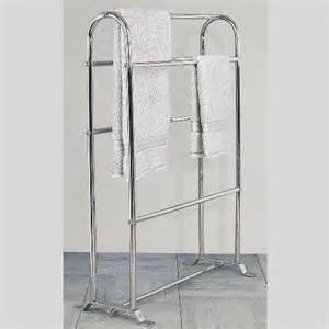 Gold Bathroom Accessories Sets by Stunning Chrome Towel Horse For Spare Towels Storage
