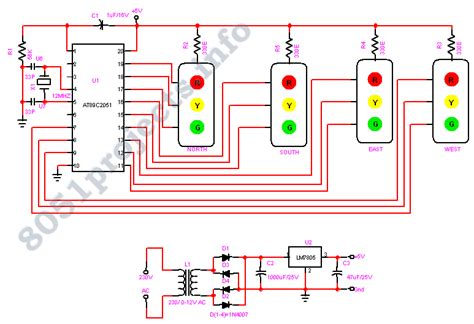 electric traffic light circuit schematic get free image