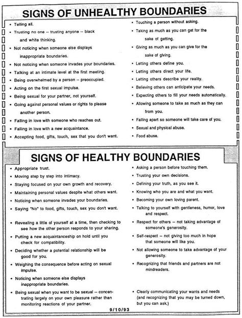 Healthy Relationships Worksheets by Healthy Boundaries Worksheet Don T Just Pretend That You