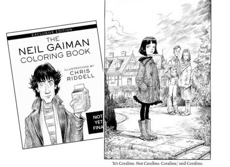 The Neil Gaiman Coloring Book exclusive sale items for independent bookstore day 2016