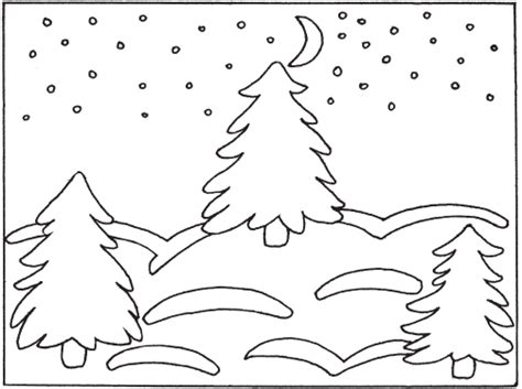 coloring pages winter landscape winter landscape coloring pages to download and print for free