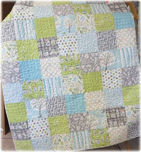 baby boy quilt backyard baby patchwork crib size