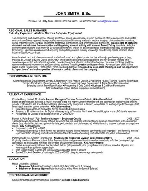 manager resume sles 59 best images about best sales resume templates sles