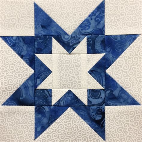 Rising Quilt Block by Made Karma Blue White Sler Six Inch Blocks