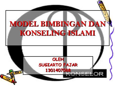 model bimbingan dan konseling islami