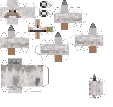 Minecraft Papercraft Wolf - papercraft wolf creeper wolves creeper creeper