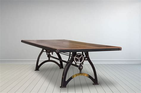 crank sit stand desk industrialux sit stand crank desk vintage industrial
