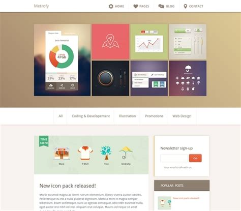 templates for blogs 25 best free templates developer s feed