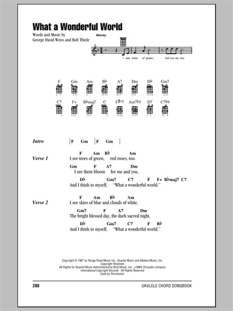 ukulele tutorial what a wonderful world what a wonderful world sheet music by louis armstrong