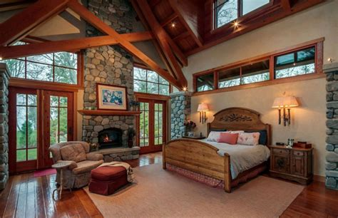rustic master bedroom luxury master bedrooms with fireplaces designing idea