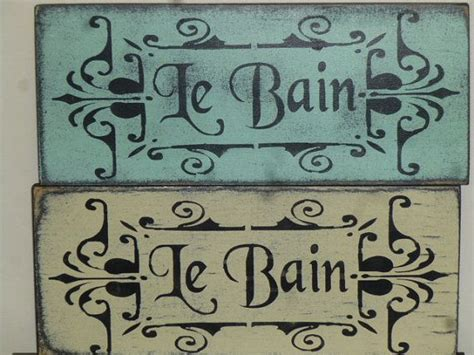 8 shabby chic bathroom signs from etsy decorative