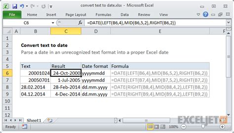 format date as text in excel convert text to date