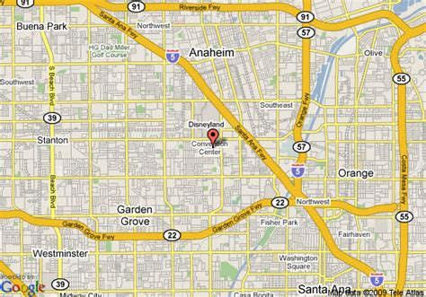 where is anaheim california on the map map of marriott anaheim anaheim