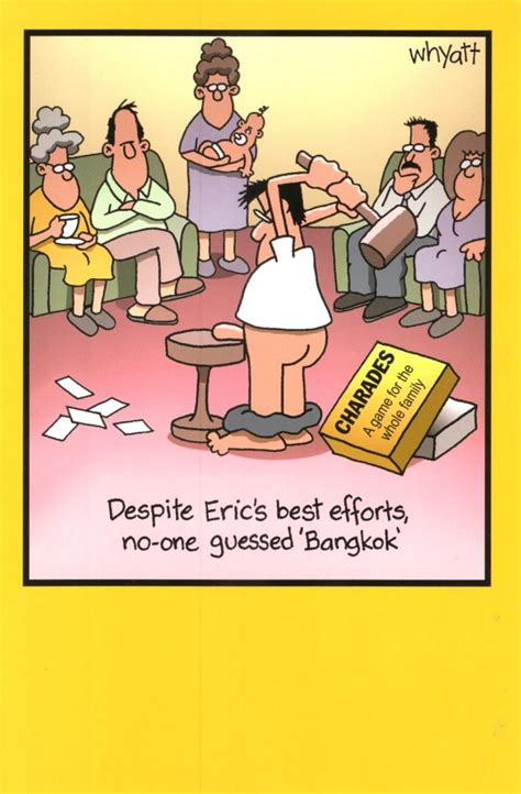 Best Valentine Gift For Him by Funny Eric Charades Bangkok Birthday Greeting Card Cards