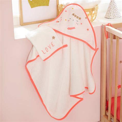 set bagno neonato set mantella da bagno e guanto coordinato fate neonata