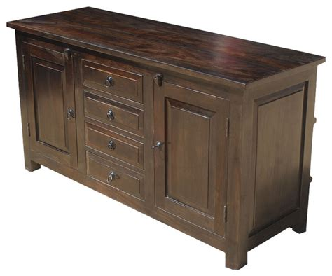sideboard cabinet shaker rustic wood buffet 4 drawer storage sideboard