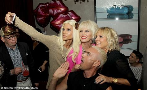 Partysugar The Bash Fabs Fabulous by Joanna Lumley And Saunders Look Glamorous At