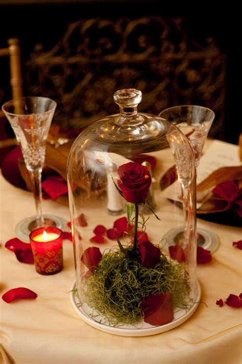 beauty and the beast table decorations centerpiece idea for beauty and the beast theme omg this
