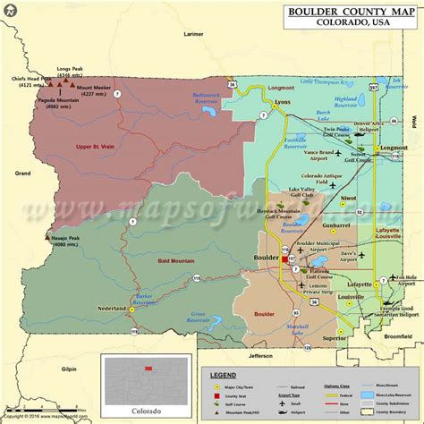 colorado in usa map boulder county map colorado map of boulder county co