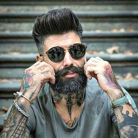 long hairstyles for men with salt and pepper fade into pompadour haircut hairs picture gallery