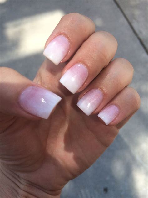 nails by hana pink and white ombre sns yelp pinteres