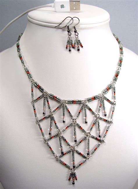 diode jewelry black germainum diode harlequin necklace and earrings stewart jewelry designs