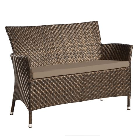 rattan benches alexander rose ocean wave rattan 4ft bench with cushion
