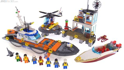 lego boat helicopter lego city 2017 coast guard headquarters review 60167
