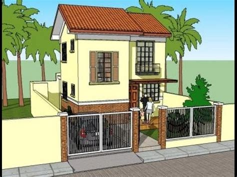 small 2 storey house designs small two storey unit house elevations and plans design and ideas youtube
